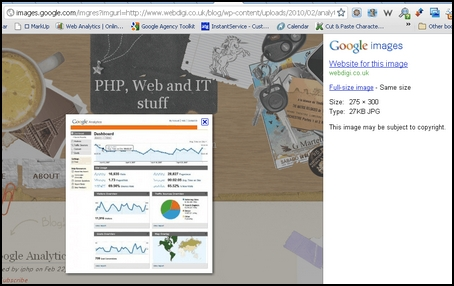 google image search in google analytics