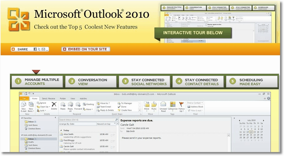 Top Outlook 2010 features
